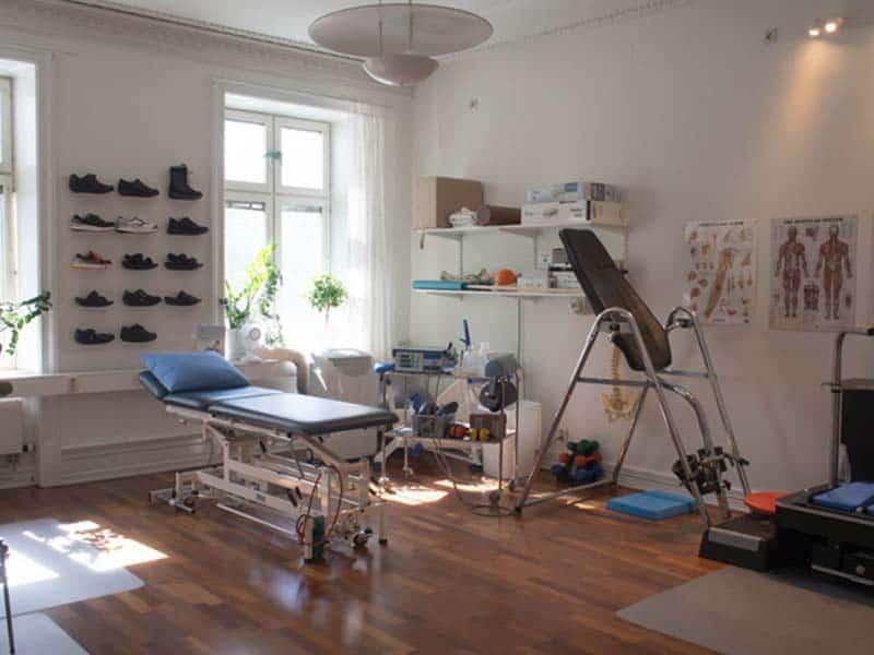 Sjukgymnast rum hos Ortomed Göteborg