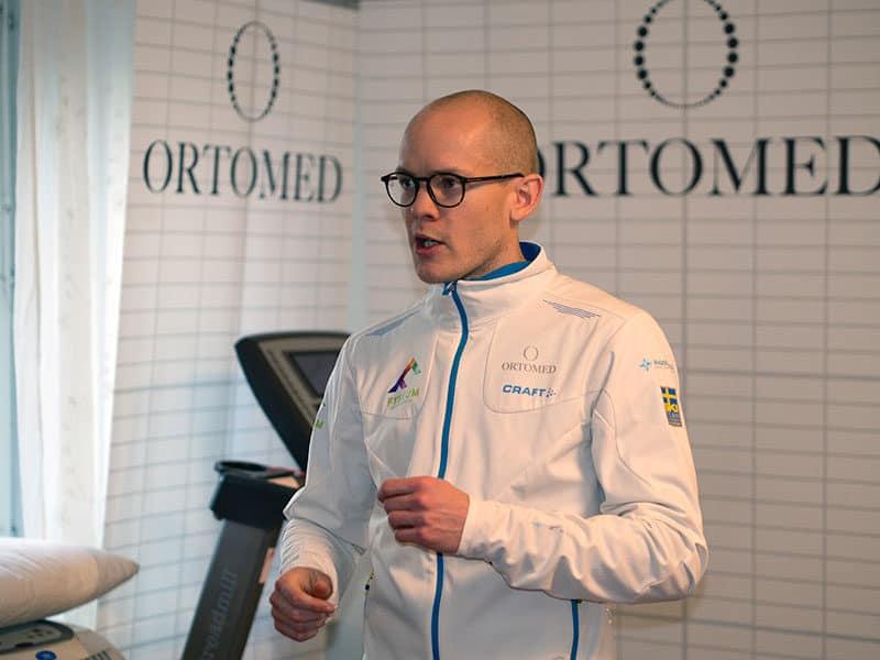 Fysioterapeut Mikael pratar löpteknik
